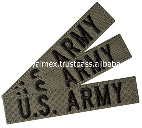 US Army Patches Embroidery Canvice Fabric Customized Embroidery Patches Machine Embroidery Badges