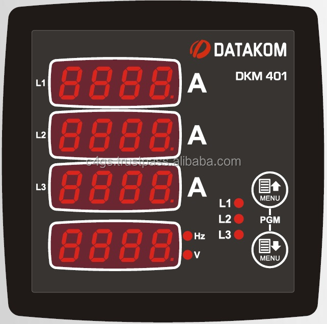 DATAKOM DKM-401 Digital Multimeter Panel, 96x96mm, 3 Phase