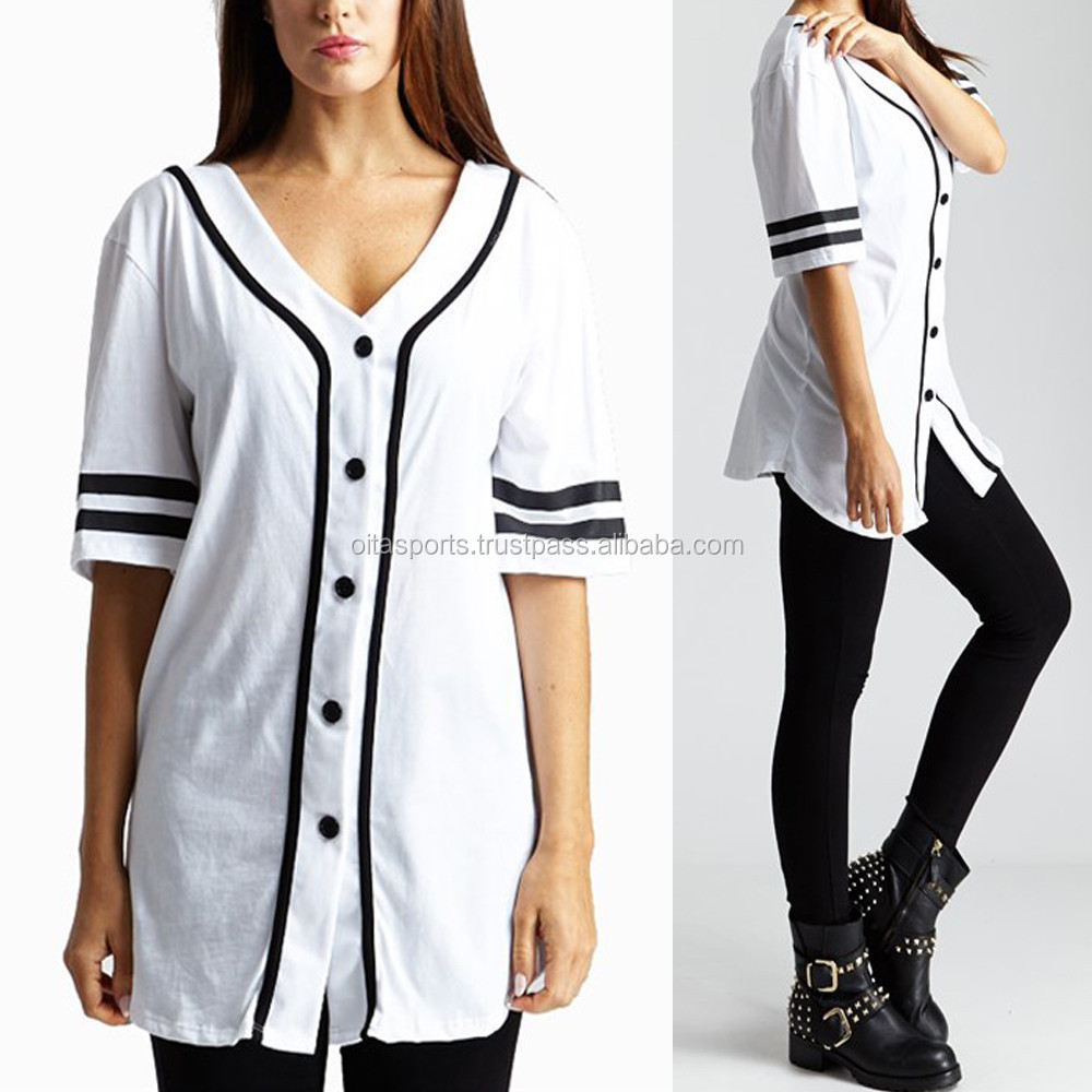 Baseball Jersey Buttons Button Down Baseball Varsity
