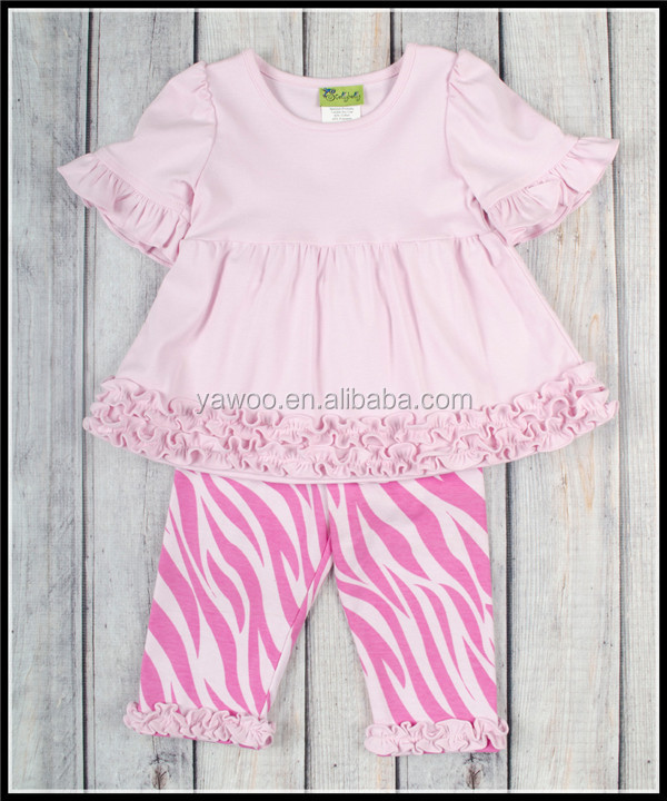 Yawoo Name Brand Kids Clothing Pink Zebra Pants Spanish Baby Summer Clothes And Elegant