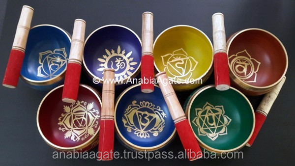 Seven Chakra Disc Set With Pouch And New Design : Wholesale Chakra Stone : Wholesale Chakra Set