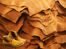 Cow suede leather for shoes