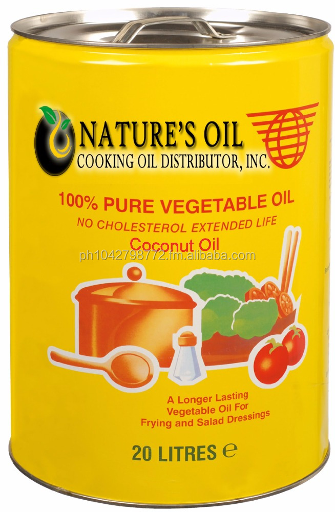 Nature's Oil - Organic and Pure Coconut Oil for High Temp Frying