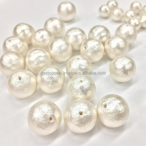 Elegant and Original loose pearl beads SHINKO Cotton pearl at wholesale prices , made of 100% cotton