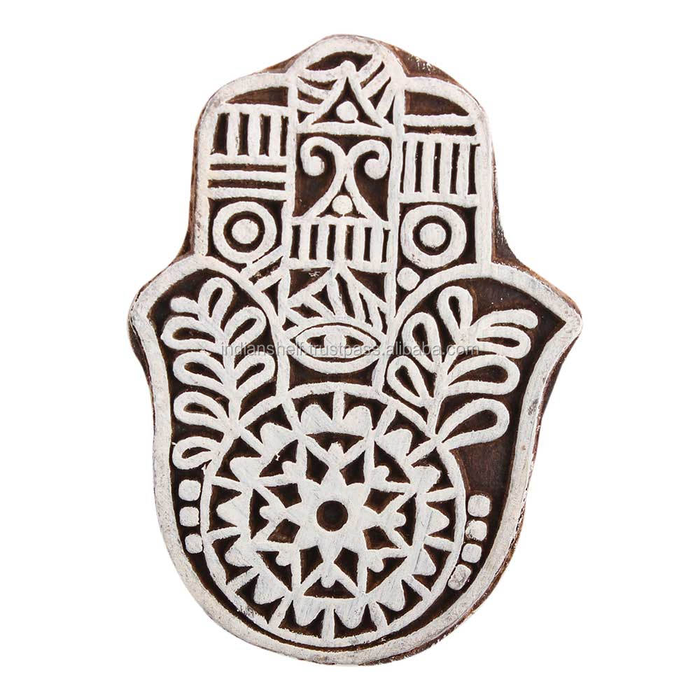 Handmade Hand Wooden Textile Printing Blocks Decorative Art Craft Wholesaler WB-2474