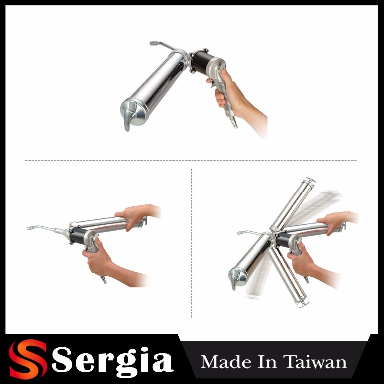 Germany Capacity 500 cc Angle Free Rotating and Continuous Flow Grease Gun