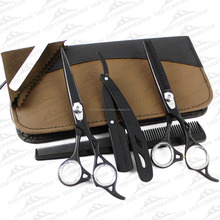 colourful barber scissors / fancy barber scissors shears / razor edge sharp barber scissors shears