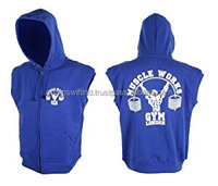 Gym Sleeveless Hoodie Fleece