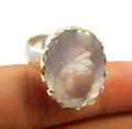Natural Faceted Rose Quartz 925 sterling silver jewelry wholesale JEWELRY EXPORTER