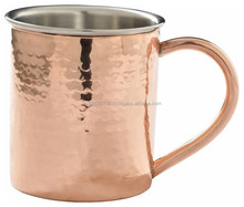 Antique hammered Moscow mule copper mug