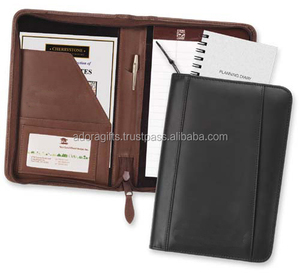 School student leather journals diary notebooks / pocket planner /leather notebook cover