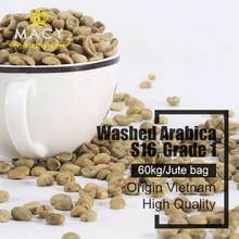 Green Coffee Beans Vietnam Washed Arabica Grade 1 Screen 16 Coffee Beans