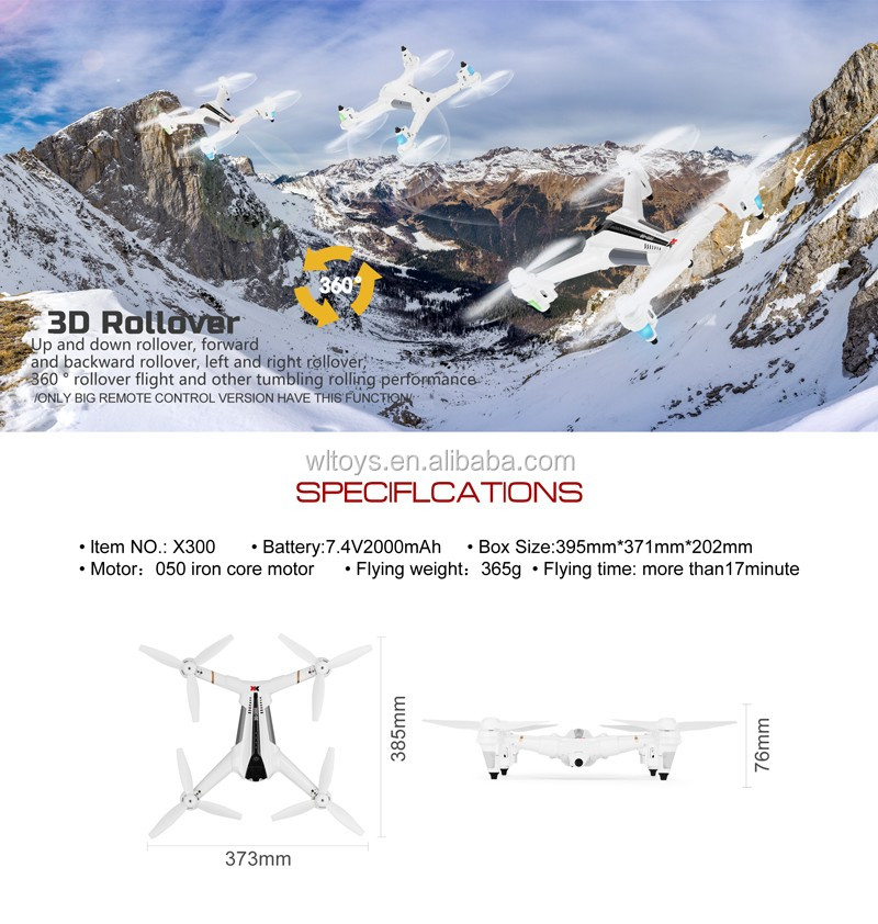 WLTOYS XK X300 2.4GHz 5CH Drone optical positioning