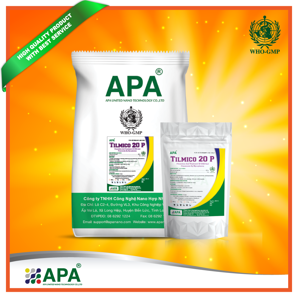 APA Manafacturer - Supply Feed Additive - Animal feed premix with tilmicosin