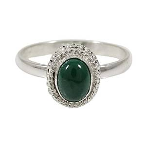 Marked 925 Sterling Silver Jadeite Stone Fine Ring Indian Fashion Jewelry Gift For Her SJR5052A