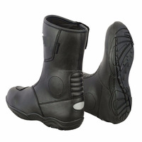 100% Leather Motorbike Motorcycle Boots Armoured Shoes High Ankle Waterproof New