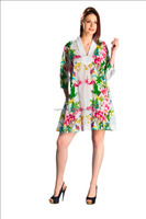 Indian cotton floral printed short kurti , western dress , party style fashionable in very popular in uk