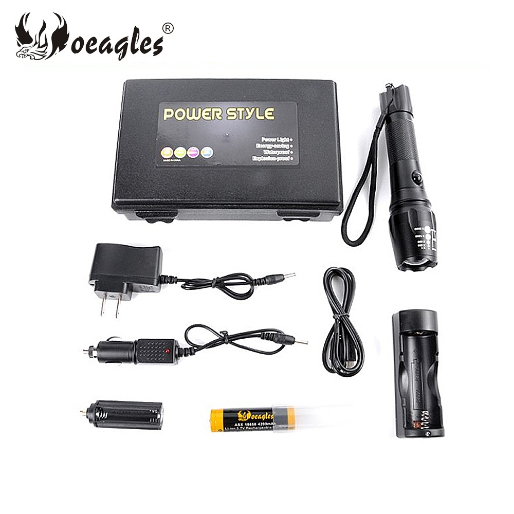 G700 USB Rechargeable LED Torch Flashlight L2 USB/AC/Car Charging Lumens power style flashlight