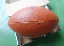 Custom bulk production pvc leather American football for sale