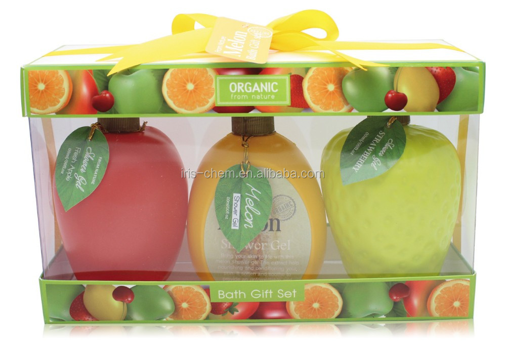 OEM/ODM Whitening Lotion Shower Gel Gift Set In Fruit Bottle From Walmart Supplier
