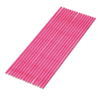 "Baking Tools Plastic Lollipop Chocolate Bar Stick Hot Pink 15.0cm(5 7/8"") long, 1 Packet(Approx 100 PCs/Packet)"
