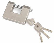 Rectangular Brass disc cylinder padlock