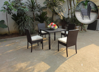 Vietnam wholesale Garden UV-resistant Rattan Wicker Leisure Dining Set Outdoor Cane Garden Furniture