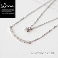 Korean Jewerly Simple Curb Bar Maultilayer Cubic Necklace