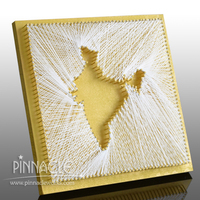 Strings of Joy India (Vintage Yellow with Gold) (MDF, Thread)