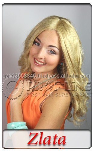 New products super quality large size slavic virgin human hair blonde lace front wigs