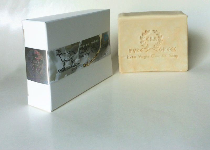 Fresh Goat Milk EXTRA VIRGIN OLIVE OIL soap, handmade in Greece.