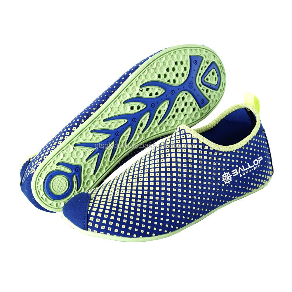 Surfing shoes, Skin shoes, Aqua shoes, Water shoes, Swim shoes, Water sports shoes, Fitness, Yoga shoes---BALLOP DIA BLUE