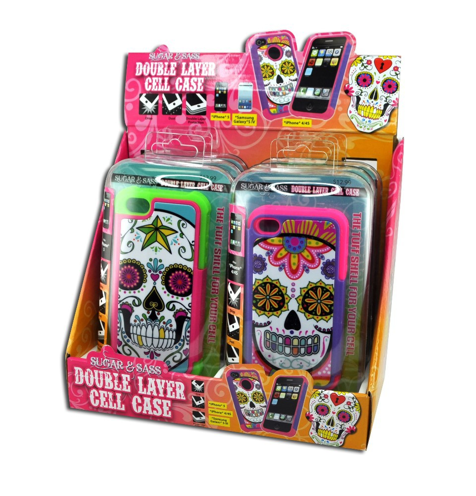 SUGAR SKULL CELL CASE #020151L