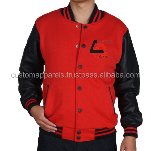 Wool made varsity jackets for sports custom wholesale