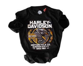 T-Shirts Model Harley Davids. Eagle 100 % Cotton peruano