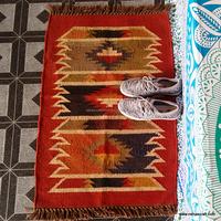 Wholesale Dustproof Natural Wool Carpet Rug Wool NCWJR-14 Vintage Kilim Floor Carpets Home Decor Dari Hand Knotted Indian Rugs