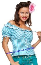 German Festival Blouse/Trachten Bavarian Traditional Oktoberfest Festival Cotton Women Damen Blouse-Shirt German Blouses 3804