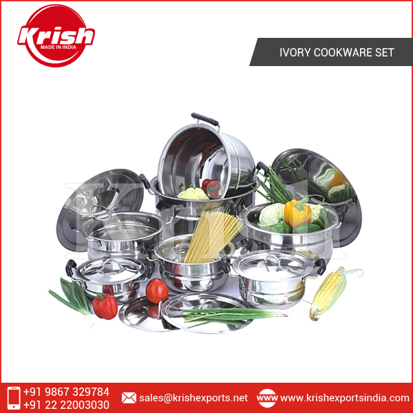 Expert Quality Durable Stainless Steel Cookware Set at Company Price