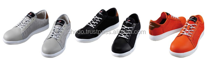industrial safety shoes ( steel toe )/ High breathability sneakers ( mesh upper ). Made by Japan