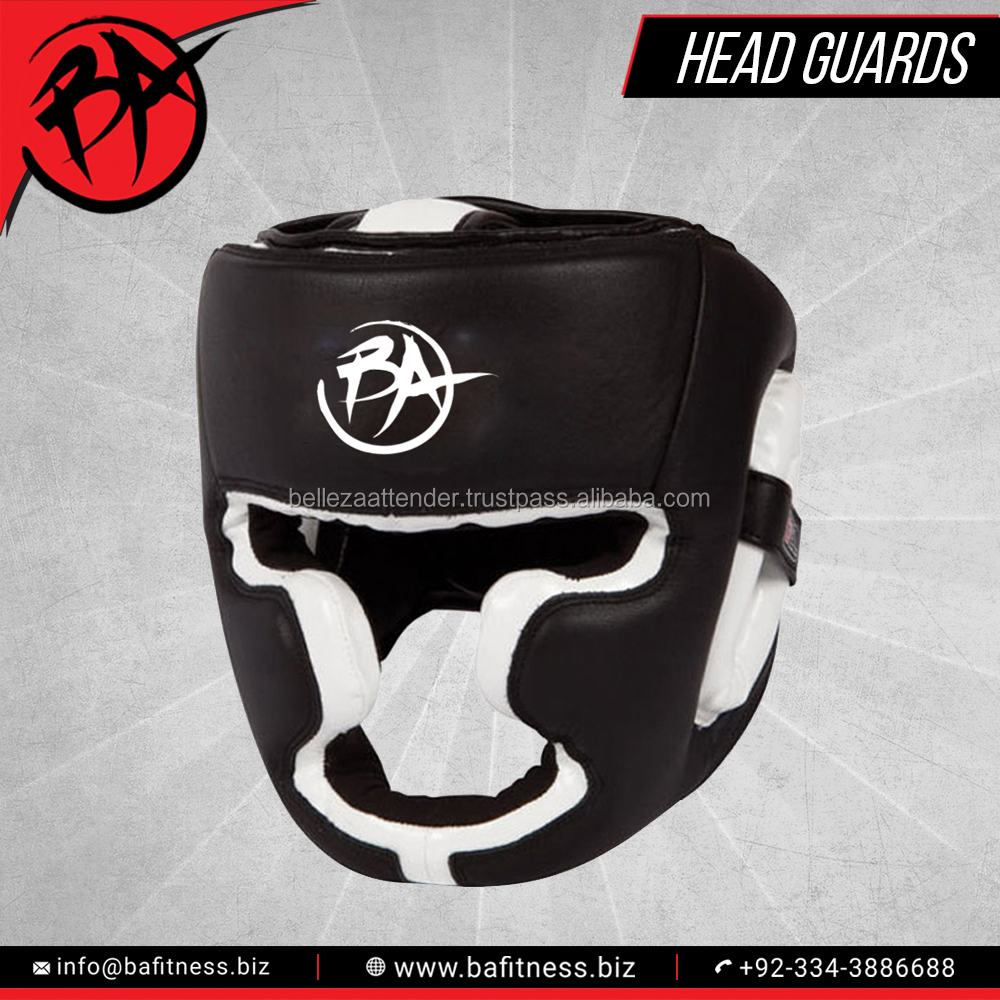Quality Boxing A Grade Cow Hide Leather Head Guard Paypal Accepted