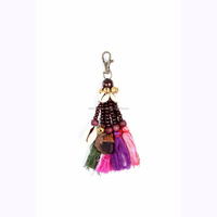 Handmade Colorful Tassel and Wooden Beads Key Chain