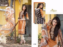 Rvee Gold Pure Lawn Cotton Salwar Suit with Pure Dupatta for Women
