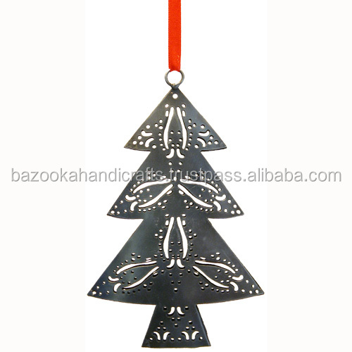Metal Christmas Tree Ornaments, Christmas Hanging, Hanging Decoration