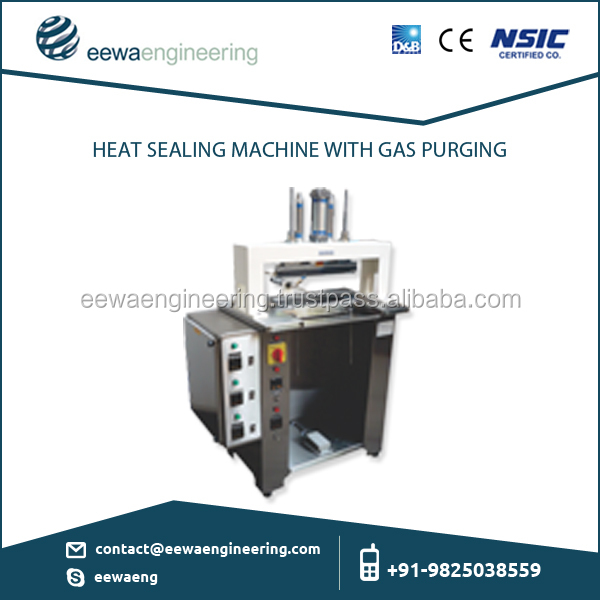 Heat Sealing Machine with Gas Purging and User Friendly Design