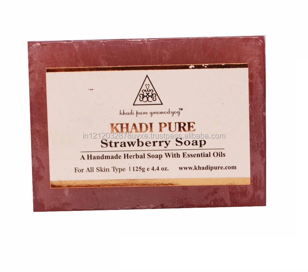 Khadi Pure Herbal Strawberry Soap