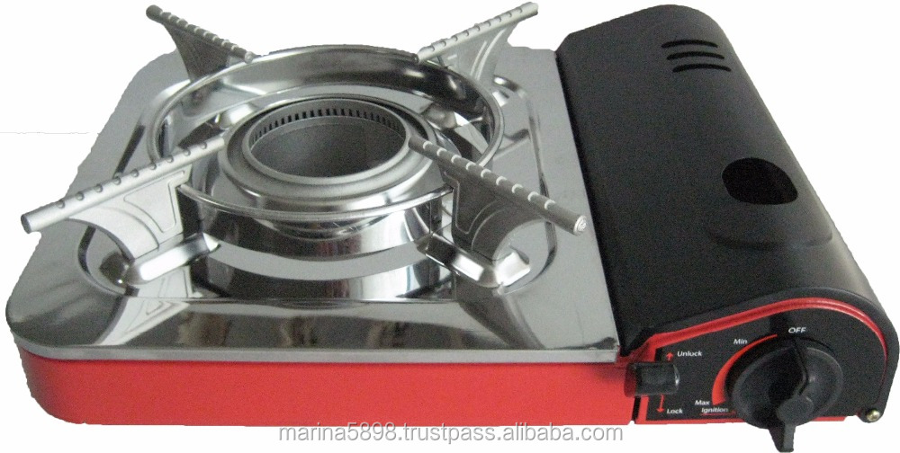 Portable gas stove TL-172 (Cyclone burner head) stainless steel soup tray / Plastic case / 220g butane gas stove /