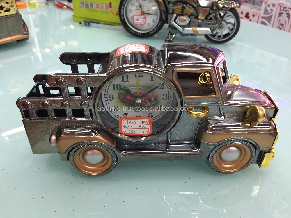 Decorative alarm clock truck clock