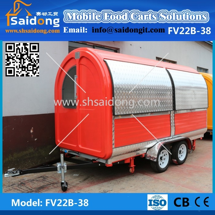 Popular& best price mobile used food carts/mobile hot dog cart/mobile food truck for sale