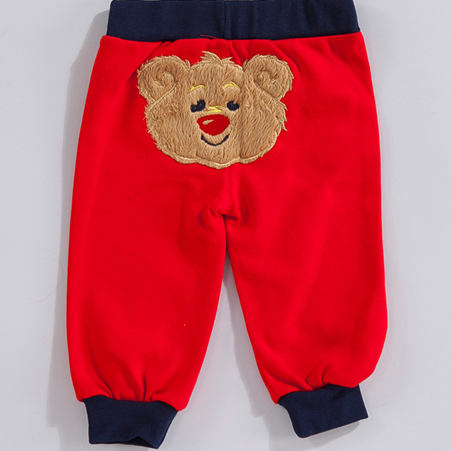 teddy bear patterned sweatpants for kids