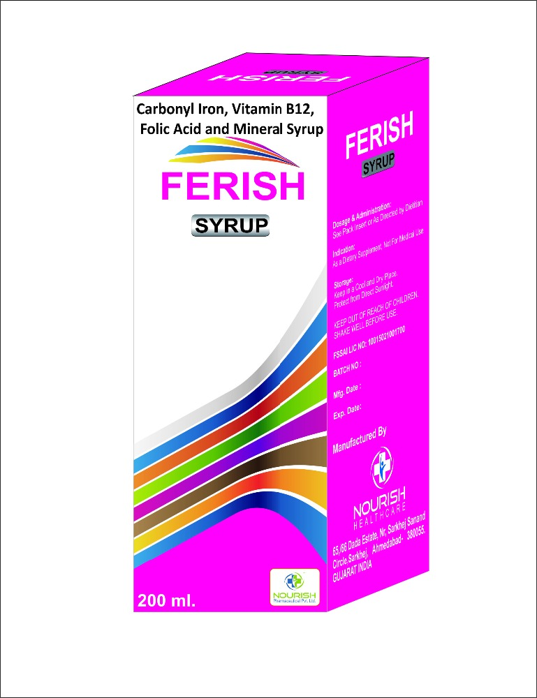 Carbonyl Iron, Vitamin B12, Folic Acid and Mineral Syrup